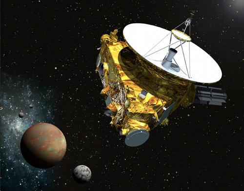 Καλλιτεχνική απεικόνιση του διαστημικό σκάφους New Horizons που κατευθύνεται στον Πλούτωνα