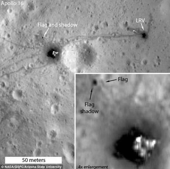 Νέες φωτογραφίες της NASA δείχνουν τις αμερικανικές σημαίες στη Σελήνη