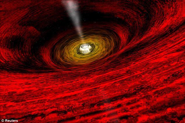 Καλλιτεχνική απεικόνιση της μαύρης τρύπας στο κέντρο του Γαλαξία