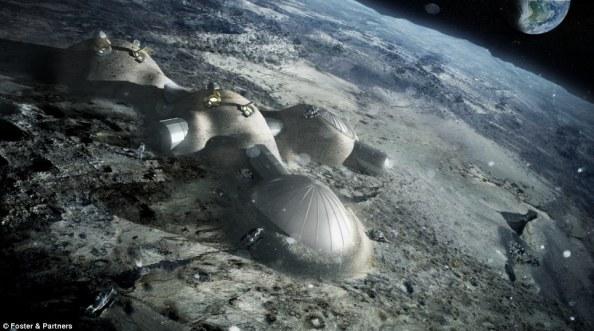 Η εταιρεία του Νόρμαν Φόστερ παρουσίασε μακέτες για μια μελλοντική βάση στο φεγγάρι