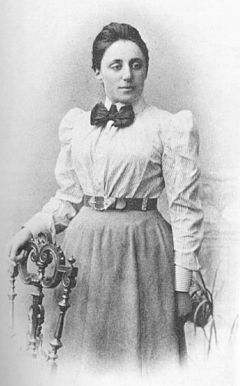 Emmy Noether  http://en.wikipedia.org/wiki/Emmy_Noether