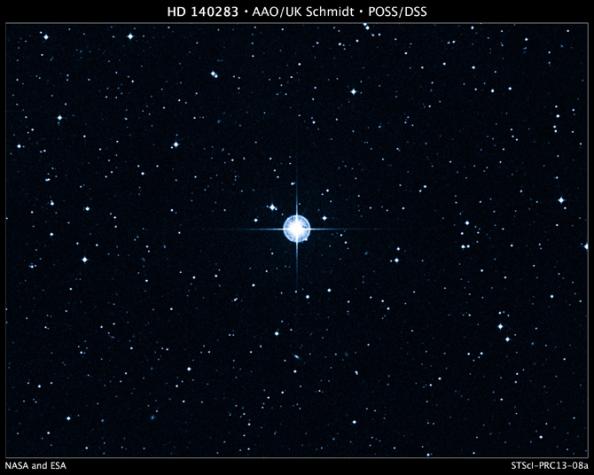 To άστρο HD 140283 που δημιουργεί πονοκέφαλο στους αστρονόμους δεδομένου ότι η ηλικία του φαίνεται να είναι μεγαλύτερα από την ηλικία του Σύμπαντος!