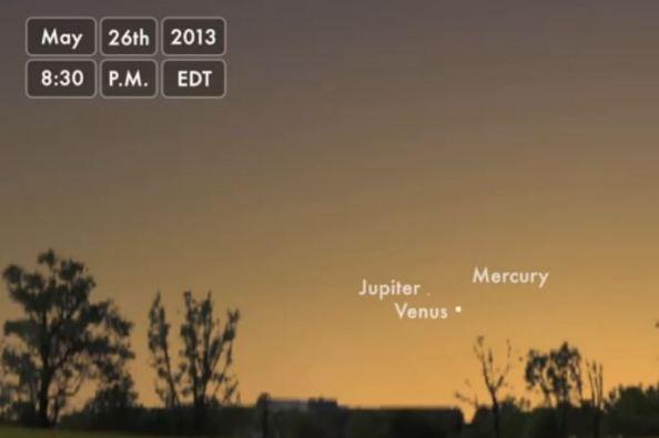 Βίντεο: τριπλή σύνοδος πλανητών στις 26 Μαΐου