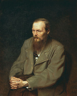 Portrait of Dostoyevsky in 1872 painted by Vasily Perov