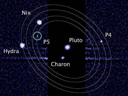 Τα ονόματα του Κέρβερου και της Στύγας έρχονται να προστεθούν σε αυτά του Χάροντα, της Νύκτας και της Ύδρας, των άλλων τριών μεγαλύτερων δορυφόρων του Πλούτωνα (M. Showalter / NASA / ESA)
