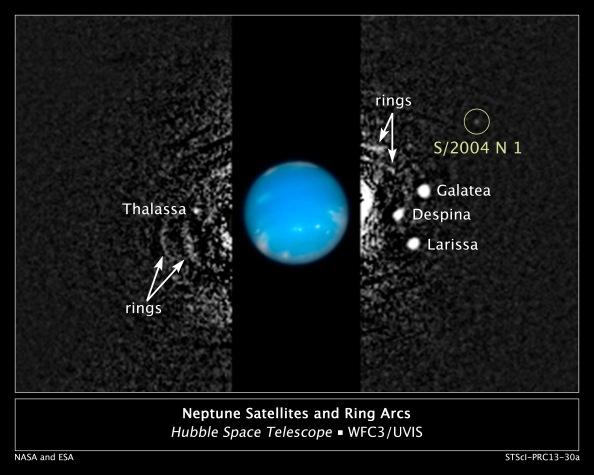 Ο νέος δορυφόρος του Ποσειδώνα ονομάζεται προς το παρόν S/2004 N 1