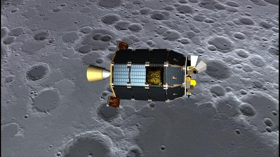 """Το διαστημικό σκάφος της NASA LADEE (Lunar Atmosphere and Dust Environment Explorer) — προφέρεται όπως το  """"laddie,"""" και όχι  """"lady"""" — θα εκτοξευθεί προς τη Σελήνη το στις αρχές του Σεπτεμβρίου 2013"""