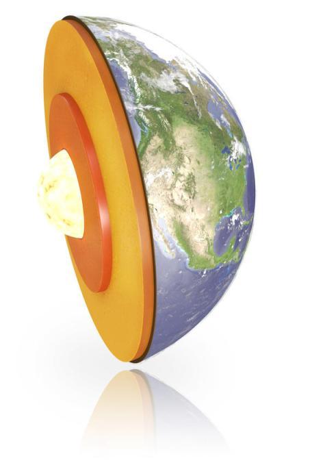 H Γη αποτελείται από τέσσερα στρώματα: φλοιός, μανδύας, εξώτερος και εσώτερος πυρήνας