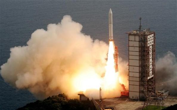 Η Ιαπωνική υπηρεσία διαστήματος  JAXA εκτόξευσε τον πύραυλο Epsilon από το διαστημικό κέντρο  Uchinoura στην πόλη Kimotsuki