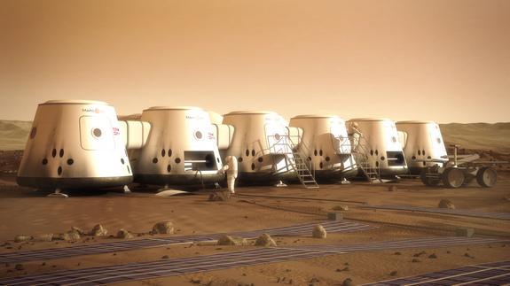 Καλλιτεχνική απεικόνιση αποικίας στον πλανήτη Άρη
