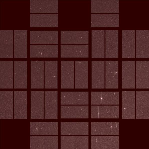 Η εικόνα από το διαστημικό σκάφος Kepler της NASA μας δείχνει to πλήρες οπτικό πεδίο του τηλεσκοπίου (κλικ πάνω στην εικόνα για μεγέθυνση)
