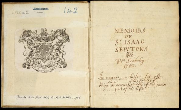 Για να διαβάσετε το χειρόγραφο του William Stukeley, που αναφέρεται στον Newton πατήστε ΕΔΩ: http://ttp.royalsociety.org/silverlight/?id=1807da00-909a-4abf-b9c1-0279a08e4bf2
