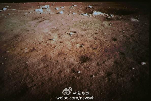 Εικόνα της σεληνιακής επιφάνειας από από την κάμερα