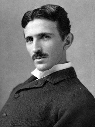 O Nikola Tesla σε ηλικία 37 ετών,  το 1893