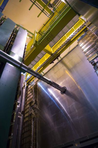 Μια άποψη της εγκατάστασης του πειράματος LHCb