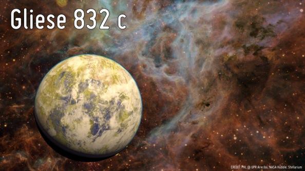 Καλλιτεχνική απεικόνιση του εξωπλανήτη Gliese 832c