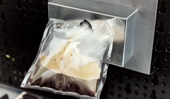 Ειδικά σχεδιασμένη μηχανή espresso ώστε να αντιμετωπίζει τις σννθήκες έλλειψης βαρύτητας στον Διεθνή Διαστημικό Σταθμό