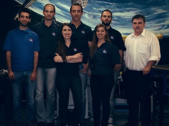 Part of the Lambda Team with (right to left) Dr. Periklis Papadopoulos, Kostas Alexandrou, Eriana Panopoulou, Vaggelis Christodoulou, Maria Dimitrakopoulou, Charalabos Koulouris and Simos Kanis.