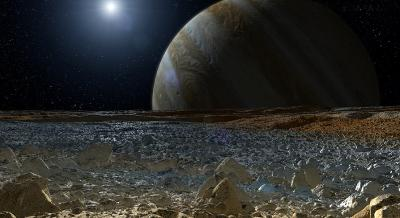 Καλλιτεχνική απεικόνιση του παγωμένου δορυφόρου του Δία, Ευρώπη Credit: NASA/JPL-Caltech