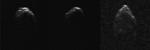 Ο αστεροειδής 1950 DA όπως καταγράφηκε από το παρατηρητήριο του Arecibo στις 4 Μαρτίου 2001