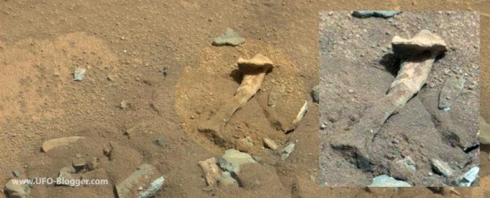 nasa-curiosity-photographed-fossilized-thigh-bone-on-mars