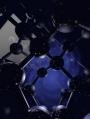 Καλλιτεχνική απεικόνιση κυματοσυνάρτησης ηλεκτρονίου (μπλε) περιορισμένο σε κρύσταλλο πυριτίου