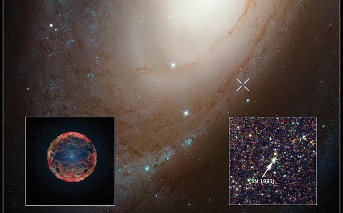 Η εικόνα της έκρηξης σουπερνόβα στον γαλαξία Μ81 από το τηλεσκόπιο Χαμπλ