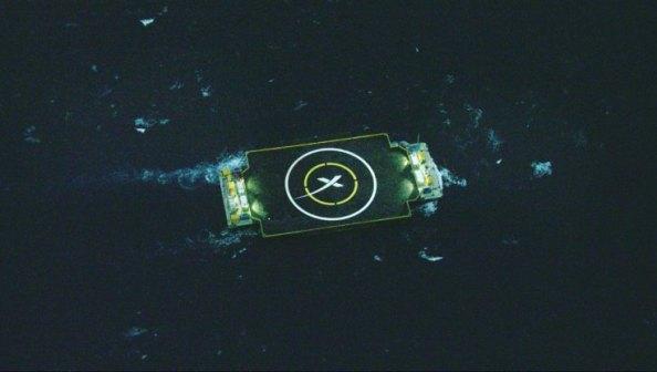 H πλωτή εξέδρα που περίμενε τον πύραυλο είναι ένα ρομποτικό, αυτόνομο πλοίο
