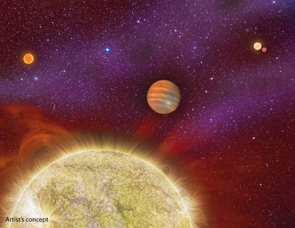 One Planet, Four Stars: The second known case of a planet in a q