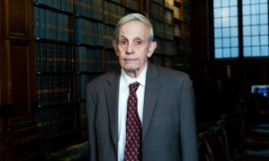 Mandatory Credit: Photo by Roger Askew/REX Shutterstock (3621338a) John Forbes Nash, Mathematician John Forbes Nash speaking at the Oxford Union, Oxford, Britain - 01 Mar 2014