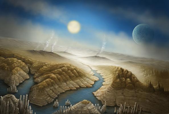Καλλιτεχνική απεικόνιση της επιφάνειας του εξωπλανήτη Kepler 452