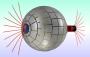 To πεδίο μαι μαγνητικής πηγής (δεξιά) εμφανίζεται ως ένα απομονωμένο μαγνητικό μονόπολο όταν διέρχεται διαμέσου της μαγνητικής σκουληκότρυπας.  Η σφαιρική συσκευή είναι μη ανιχνεύσιμη μαγνητικά