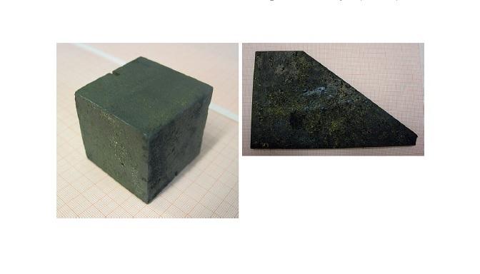 Αριστερά: κύβος του Heisenberg (5cm σε κάθε διεύθυνση)