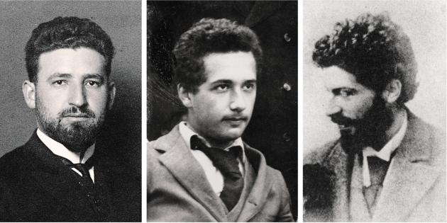 Marcel Grossmann (αριστερά) και Michele Besso (δεξιά), φίλοι και συνεργάτες του Einstein από τα φοιτητικά του χρόνια, συνέβαλαν σημαντικά στην διατύπωση της Γενικής Θεωρίας της Σχετικότητας.