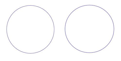 Μόνο το ένα από τα δυο σχήματα είναι κύκλος