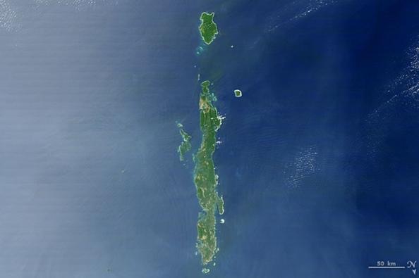 I: νησιά Andaman στον κόλπο της Βεγγάλης