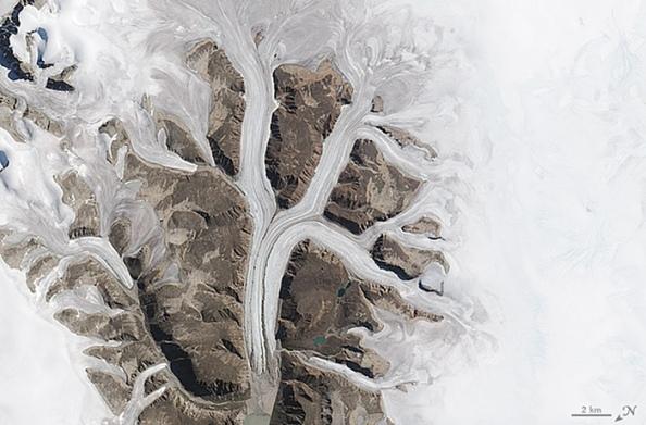 K: παγετώνες στο εθνικό πάρκο Sirmilik στο Mittimatalik του Canada