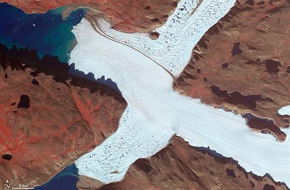 X: η βορειοδυτική γωνία του παγετώνα Leidy στην Γροιλανδία
