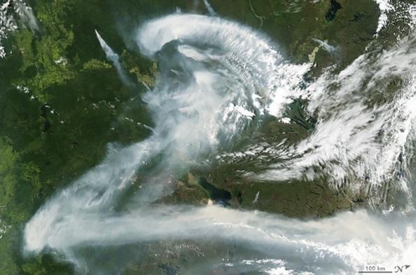 Z: καπνός από πυρκαγιά πάνω από τον Καναδά