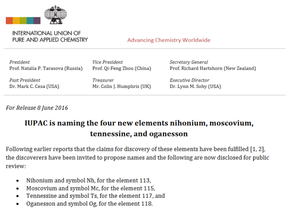 http://iupac.org/cms/wp-content/uploads/2016/06/Press-Release_Naming-Four-New-Elements_8June2016.pdf