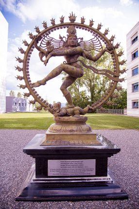 https://en.wikipedia.org/wiki/Nataraja#/media/File:Shiva%27s_statue_at_CERN_engaging_in_the_Nataraja_dance.jpg
