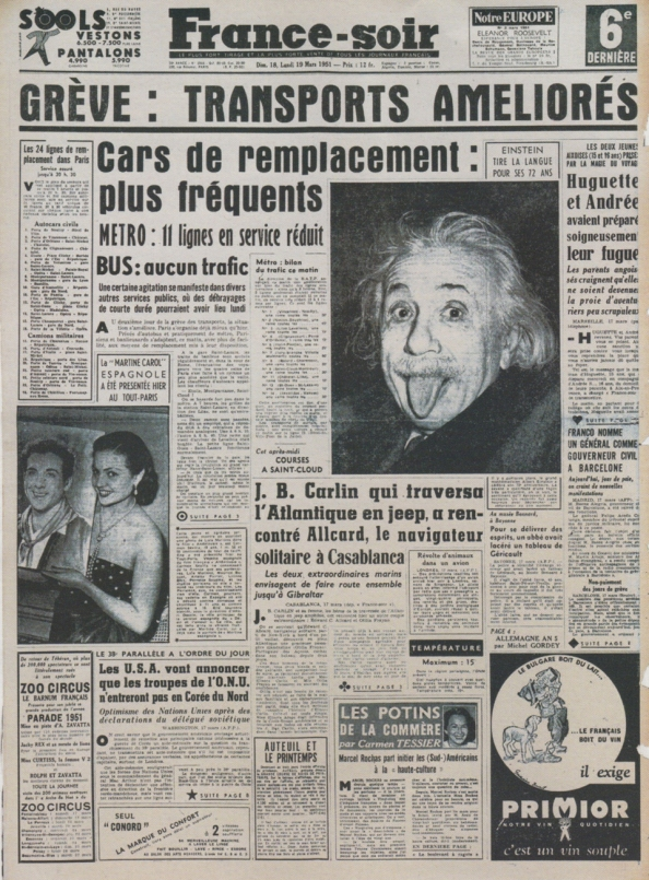 Σε μόλις τέσσερις μέρες η φωτογραφία διέσχισε τον Ατλαντικό για να γίνει πρωτοσέλιδο στις ευρωπαϊκές εφημερίδες