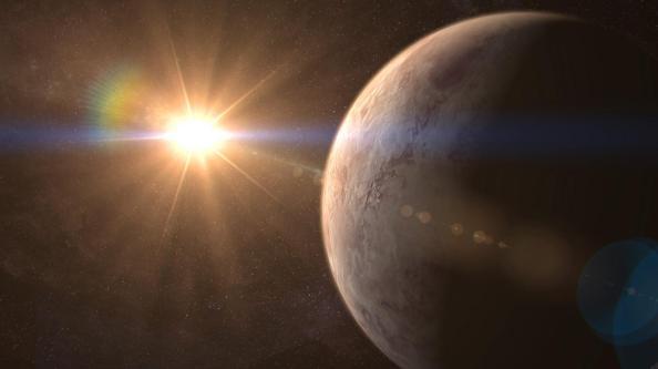 Καλλιτεχνική απεικόνιση του εξωπλανήτη GJ 536 b και του άστρου GJ 536