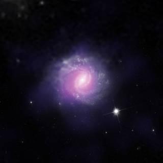 O γαλαξίας IC 3639, κρύβει επίσης μια τεράστια μαύρη τρύπα (Credits: ESO/NASA/JPL-Caltech/STScI)